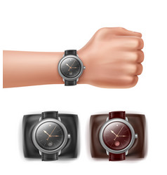 hand with watches vector image