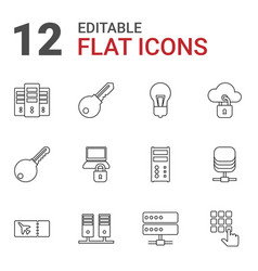 12 access icons vector