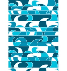Abstract blue waves background pattern vector image vector image