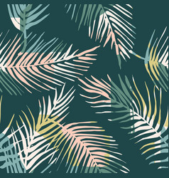 abstract creative seamless pattern with tropical vector image
