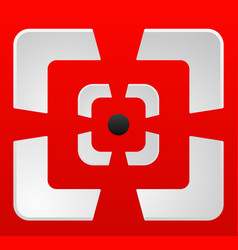 Abstract cross hair target mark reticle icon vector