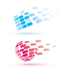 Abstract globe icons business and communication vector