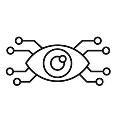 ai smart eye icon outline style vector image