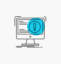 Alert antivirus attack computer virus line icon vector