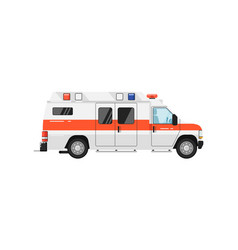 Ambulance car isolated vector