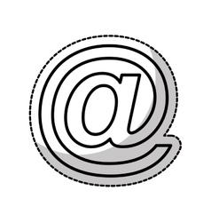 Arroba social media icon vector