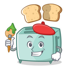 artist toaster character cartoon style vector image