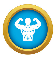 Athletic man torso icon blue isolated vector