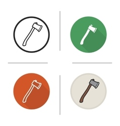Axe icons vector image