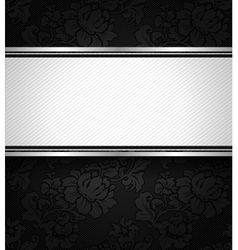 Background black ornamental fabric texture vector