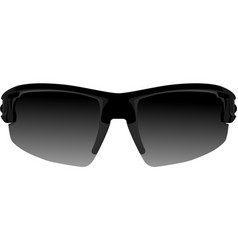 Black sport sunglasses vector
