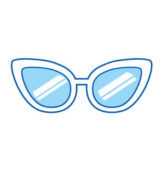 Blue icon sunglasses cartoon vector