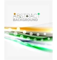 Blurred color waves lines abstract vector