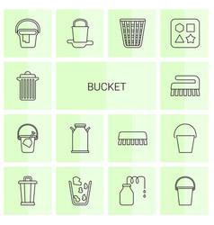 Bucket icons vector