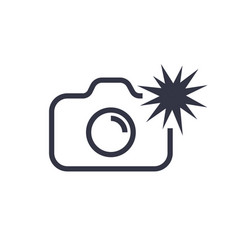 Camera icon isolated vector