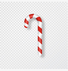 Candy cane isolated on transparent background vector
