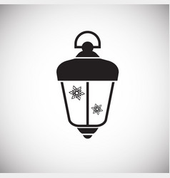 christmas lantern on white background vector image