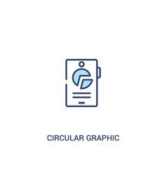 circular graphic mobile concept 2 colored icon vector image