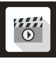 Clapboard icon in flat style vector image