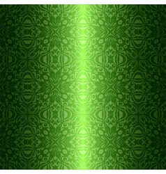 Damask vintage floral green seamless pattern vector image vector image