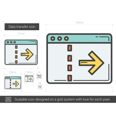 Data transfer line icon vector image