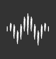 Dj sound wave chalk icon soundtrack playing vector