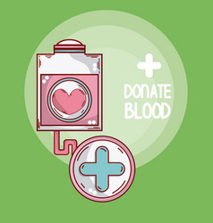 donate blood cartoons card vector image