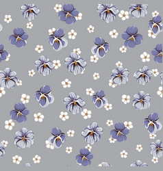 Drawing of seamless pattern with viola flowers vector