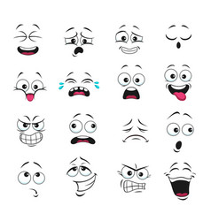 face expression isolated feelings icons set vector image