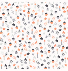 festive winter christmas doodles vector image