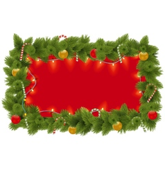 Fir Frame with Garland vector image