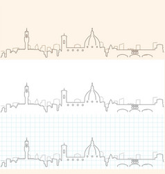 Florence hand drawn skyline vector