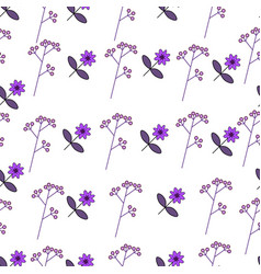 Flower pattern with cute flowers vector