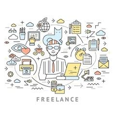Freelance conceptual background vector