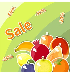 fruit sale vector image