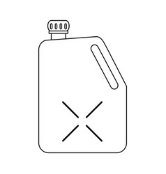 fuel container symbol in black and white vector image