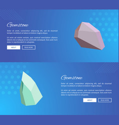 gemstone webpages design with push buttons vector image