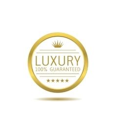 Golden luxury label vector