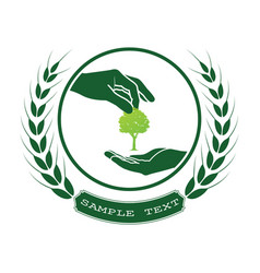 green tree logo vector image