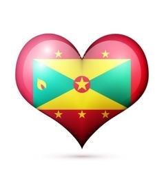 Grenada Heart flag icon vector image