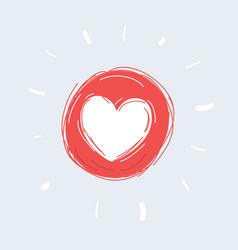 Heart love icon vector