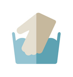 icon for care of clothing for laundry vector image