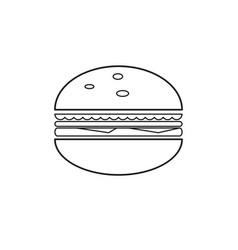 isolated hamburger outline vector image