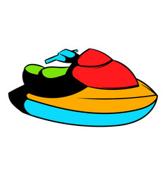Jet ski water scooter icon icon cartoon vector