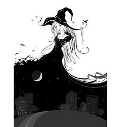 Lady Night vector image