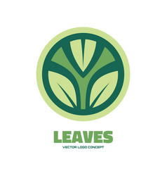 leaves - logo template concept vector image