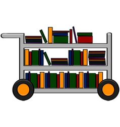 Library cart vector