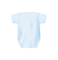 Light blue newborn bashirt from back view vector