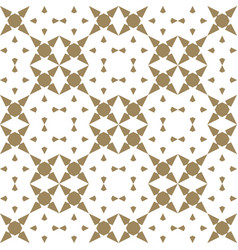 luxury golden mosaic geometric seamless ornament vector image