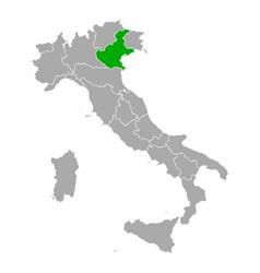 map veneto in italy vector image